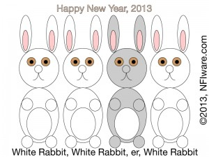 3 white rabbits, 2013